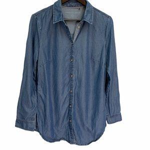 Sandwich💙Chambray Button Down Long Sleeve Shirt M